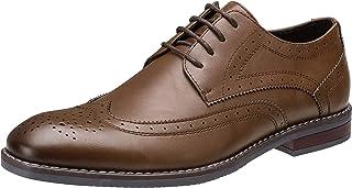 CAMEL CROWN Men's OxfordShoes Classic Wingtip Brogue Derby Shoe Uniform Dress Shoes Lace Up Formal Business Shoes Wedding Oxfords for Men