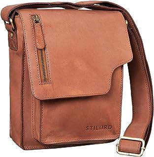 """STILORD Pete"""" Umhängetasche Leder klein Männer Schultertasche Vintage Messenger Bag Herren 8,4 Zoll Tablettasche echtes Leder"""