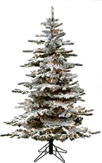 4' Flocked Bavarian Pine, Pre-Lit Artificial White Christmas Tree, 150 Clear Lights Stay on if Bulb Burns Out! Fresh Snowfall Look and 326 Tree Tips, Storage Bag Included, Top Choice for Designers