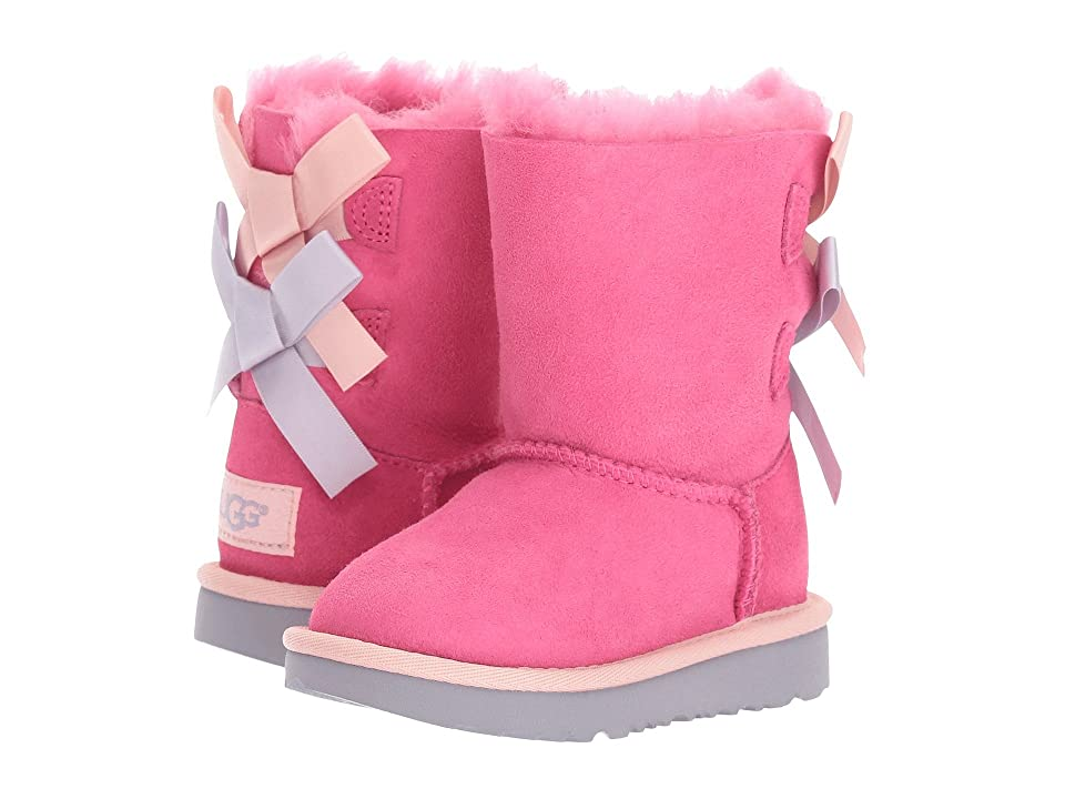 UGG Kids Bailey Bow II (Toddler/Little Kid) (Pink Azalea/Icelandic Blue) Girls Shoes