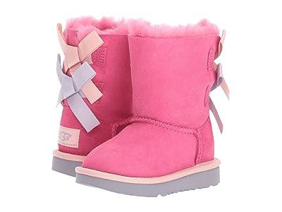 UGG Kids Bailey Bow II (Toddler/Little Kid) (Pink Azalea/Icelandic Blue) Girls Shoes