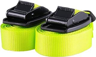 2 stuks hoogwaardige spanbanden met gespbescherming, neon geel, rubberen spanband, sjorriem, bevestigingsriem, belastbaar ...