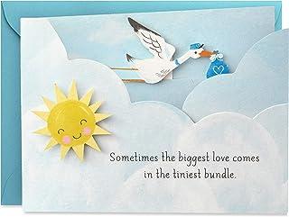 Hallmark Paper Wonder Paper Craft Baby Shower Card for Baby Boy (Stork) - 499RZW1027