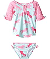 Hatley Kids - Ponies & Polka Dots Rashguard Set (Toddler/Little Kids/Big Kids)