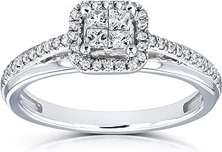 quarter carat princess cut diamond ring