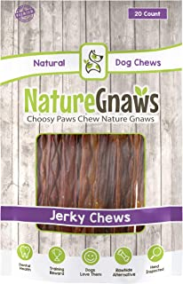 Nature Gnaws Beef Jerky Chews 9-10 inch - 100% Natural Beef Sticks for Large Dogs