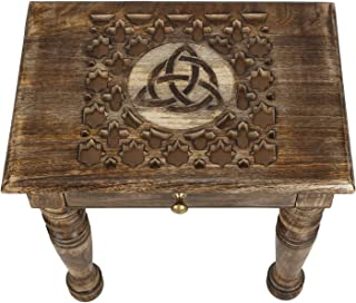 Best solid wood round end table Reviews