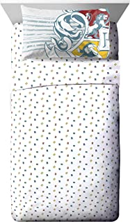 Jay Franco Warner Brothers Harry Potter Wizardry Twin Sheet Set - 3 Piece Set Super Soft and Cozy Kid's Bedding - Fade Resistant Polyester Microfiber Sheets (Official Warner Brothers Product)