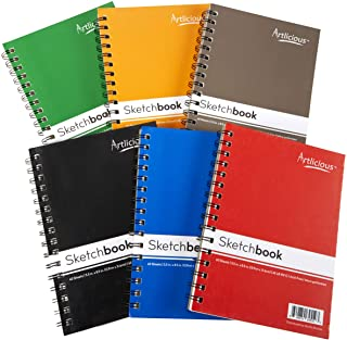 Artlicious 6 Sketch Books Classroom Pack - 5.5 x 8.5-360 Sheets 720 Pages Total Drawing Pads Sketchbooks