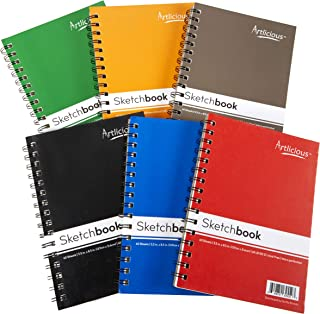 Artlicious 6 Sketch Books Classroom Pack - 5.5 inch x 8.5 inch - 360 Sheets 720 Pages Total Drawing Pads, Sketchbooks