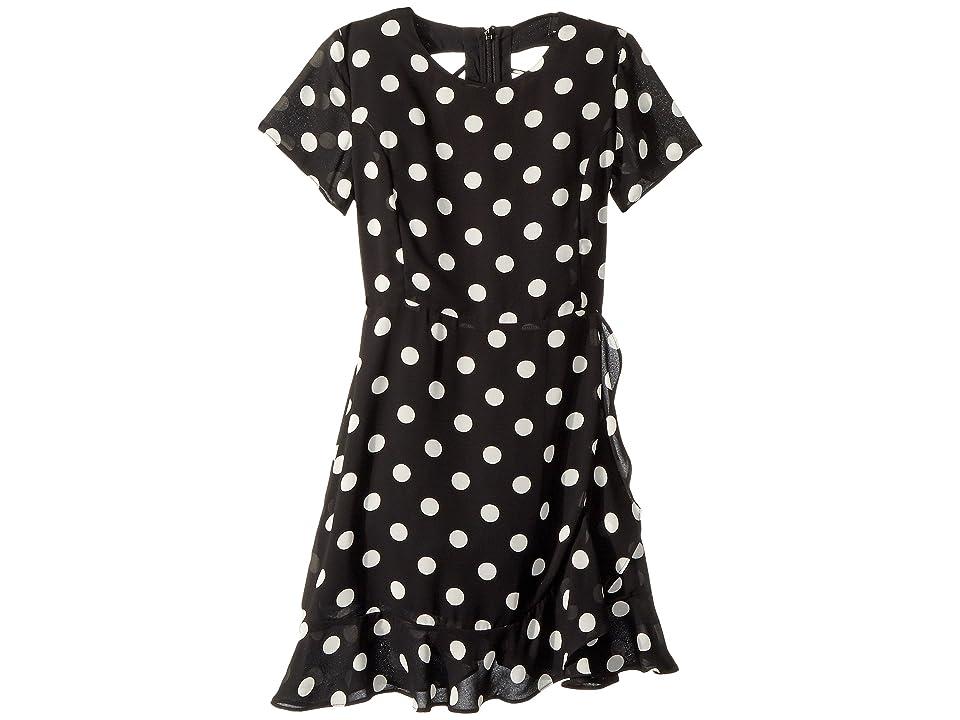 Bardot Junior Kiera Spot Dress (Big Kids) (Black/White Spot) Girl