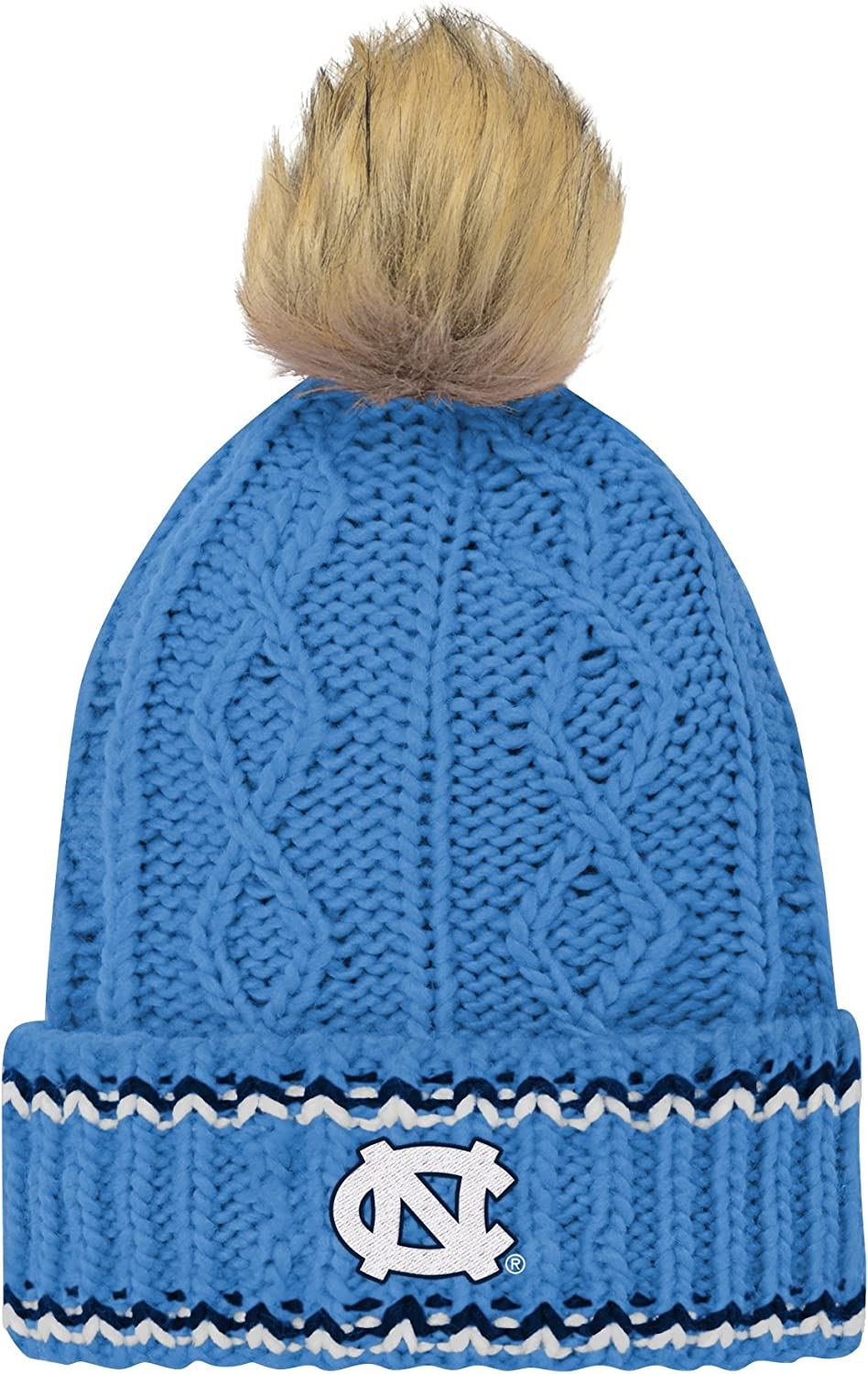 Gen 2 Girls NCAA Youth Core Furry Pom Cable Knit Hat