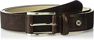 Stacy Adams Men's 34mm Genuine Suede Leather with Leather Accents