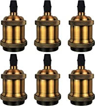DiCUNO Vintage E26 Lamp Socket, UL-Listed Edison Retro Pendant Lamp Holder, Industrial and Decorative for DIY Lighting, 60...