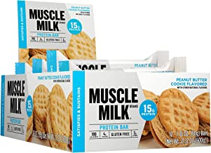 Muscle Milk Protein Bar, Peanut Butter Cookie, 15g Protein, 12 Count