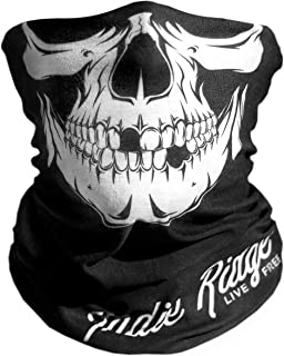 Skull Outdoor Motorcycle Face Mask By Indie Ridge - Microfiber Multifunctional Seamless Headwear