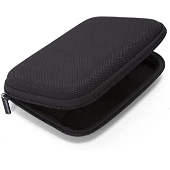 Ginsco Hard Carrying Case for Portable External Hard Drive Toshiba Canvio Basics Seagate Expansion WD Elements (Black)
