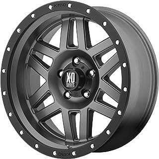 XD Series by KMC Wheels XD128 Machete Matte Gray Wheel with Black Ring (18x9