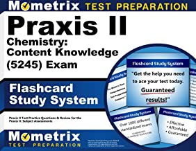 Praxis II Chemistry: Content Knowledge (5245) Exam Flashcard Study System: Praxis II Test Practice Questions & Review for the Praxis II: Subject Assessments (Cards)