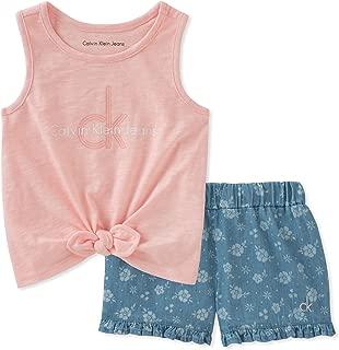Calvin Klein 女童短裤套装 2 件套