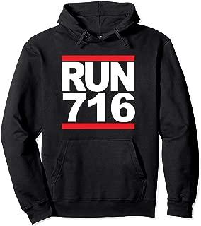 Run 716 Buffalo NY Vintage Running Pullover Hoodie