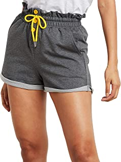 Contrast Drawcord Button Detail Runner Shorts 80427014 For Women Closet by Styli