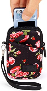 USA GEAR Small Camera Case for Compact Digital Cameras - Compatible with Canon PowerShot, Canon Ivy, Nikon Coolpix A300, Sony Cybershot DSC-W830 and More - Fits 4.5 Inch Cameras - Floral