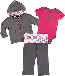 Unisex Baby Hoodie, Bodysuit and Pant