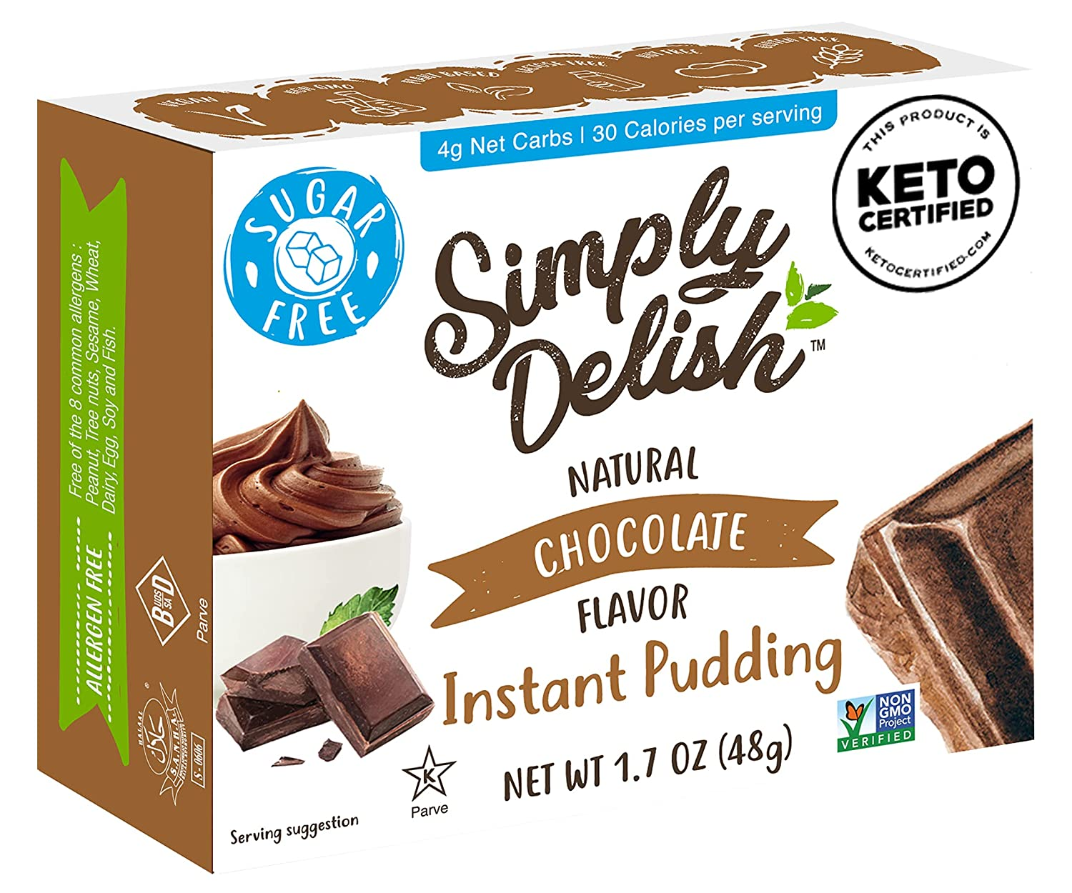 Simply Delish Recommendation Natural Instant Chocolate Free Pudding Non Sugar Selling
