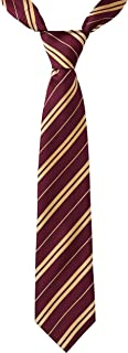 Wizard Tie Harry Costume - Maroon and Gold Tie for Kids and Adults