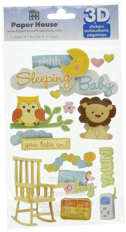 Paper House Productions STDM-0139 3D Sticker 4.5