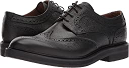 Pebbled Leather Wingtip Lace-Up