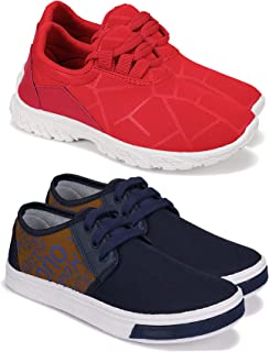 Camfoot Kids & Boys (9294-9204) Multicolor Casual Stylish Sports Shoes (Set of 2 Pair)