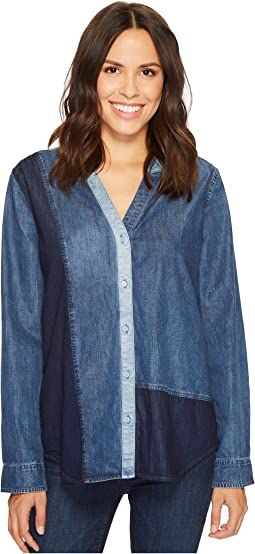 NYDJ - Mixed Wash Denim Shirt
