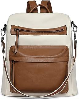 BOSTANTEN Damen Rucksack Leder Rucksackhandtaschen Groß Schulrucksack Mode Schultertasche für Frauen 2 in 1 Tagesrucksack