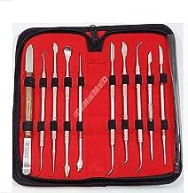 مجموعه تجهیزات آزمایشگاهی دندانپزشکی تجهیزات ضد زنگ آلمانی مجموعه ابزارهای حکاکی موم