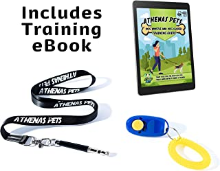 Athenas Pets Adjustable High Frequency Ultrasonic Dog Whistle to Stop Barking with Lanyard and Dog Clicker for Training - Includes Dog Training Whistle and Training Clicker Guide eBook