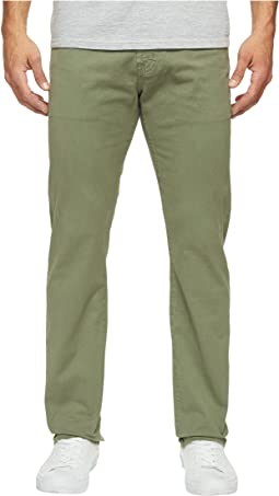 Matchbox Slim Straight Leg Twill in Sulfur Harvest Olive