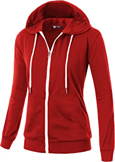 9c825307e GIVON Womens Comfortable Long Sleeve Lightweight Hoodie with Kanga Pocket