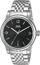 Oris Men's 73375944034MB Classic Analog Display Swiss Automatic Black Watch