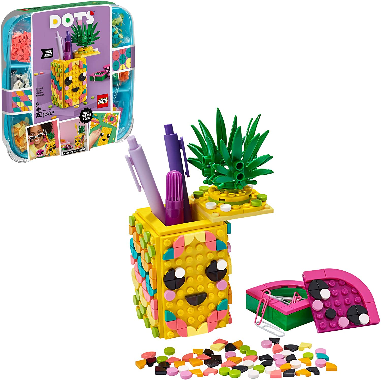 LEGO DOTS Pineapple Pencil Holder 20 DIY Craft Decorations Kit, A Fun  Craft kit for Kids who Like Arts and Crafts Projects, That Also Makes a  Great ...