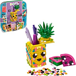 LEGO DOTS Pineapple Pencil Holder 41906 DIY Craft Decorations Kit, A Fun Craft kit for Kids who Like Arts and Crafts Proje...