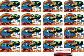 MSS 16 Hot Wheels Postcard Invitations Birthday Party Supplies Value Pack Plus Party Planning Checklist