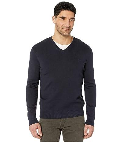 Calvin Klein Cotton Modal Long Sleeve V-Neck (Night Sky) Men