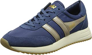 Gola Women's Montreal Mirror Baltic/Gold/Off Wht Trainers, Blue (Baltic/Gold/Off Wht Ey), 3 UK 36 EU