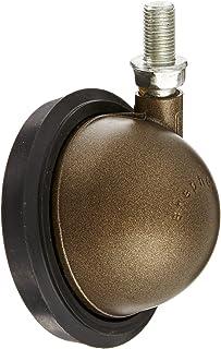 """Shepherd Saturn Series 3"""" Diameter Rubber Wheel Swivel Ball Caster, 3/8"""" Diameter x 5/8"""" Lengte UNF24 schroefdraad, 100 lb..."""