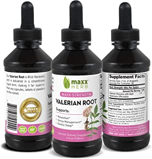 Sponsored Ad - Maxx Herb Valerian Root Liquid Extract (4 Oz Bottle with Dropper) Max Strength, Absorbs Better Than Sleepin...