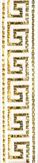 Offray Greek Key Craft Ribbon, 7/8-Inch x 9-Feet, White