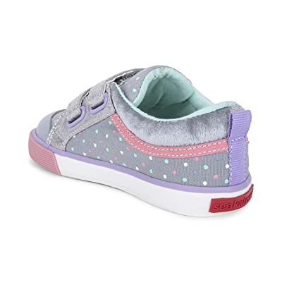 See Kai Run Kids Robyne (Toddler/Little Kid) (Gray Dots/Silver) Girl