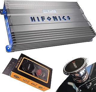 Hifonics BG-2500.1D 2500 Watts Brutus Gamma Mono Subwoofer Car Audio Amplifier with Gravity Magnet Phone Holder Bundle photo